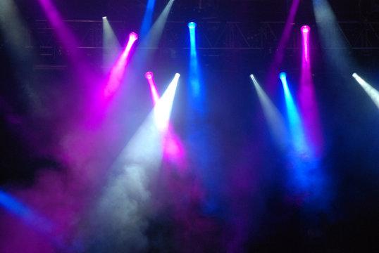 Stage Strobe Lights at Concert
