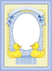 rubber ducky border - Blue