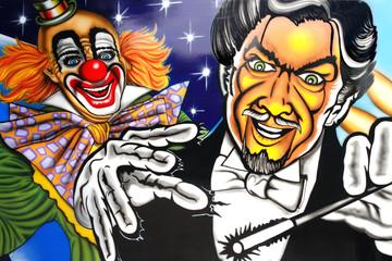 clown et magicien