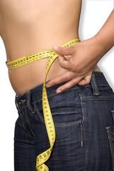 Slim body with centimetre