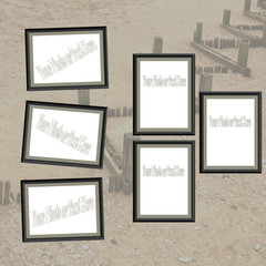 Modern Themed Beach Scrapbooking Insert