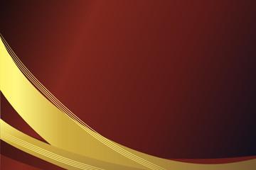 Goldene Kurve vor rotem Hintergrund