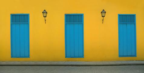 Poster Havana Old havana facade