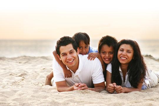Happy Family Enjoying a Vacation