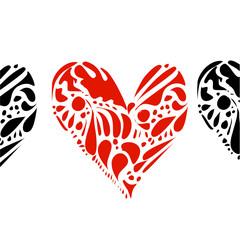 Herzen mit Muster
