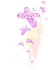 Illustration mit rosa Schmetterling Vektor