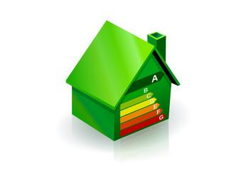 Maison verte et bonne performance énergétique (reflet)