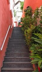 Escalier étroit, Rio, Brasil.