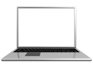 Blank screen on a laptop