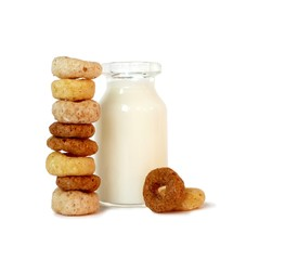 Balanced Breakfast Cereal and Milk