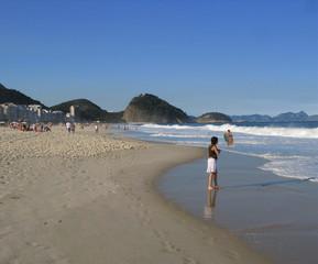 Plage de Copacabana et collines, Rio, Brésil