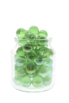 Marbles in Glass Jar
