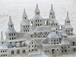 Chateau de sable, plage de Copacabana, Rio, Brésil.