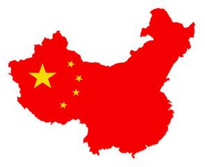 china karte fahne vektor map