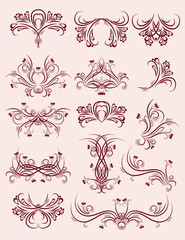 decorative  ornaments for design, vector