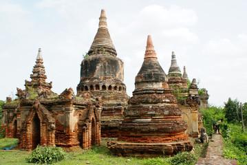 Brick stupas