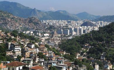 Collines et maisons de Rio de Janeiro, Brésil