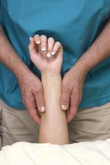 Woman having arm Massge