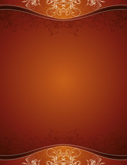 brown background with decorative ornaments