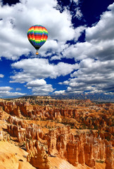 The landscape of The Bryce Canyon National Park in Utah
