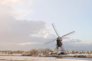 mill in wintertime