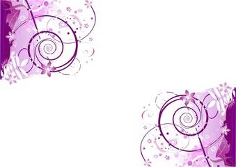 Pink lila Hintergrund Illustration mit Ornament ecken