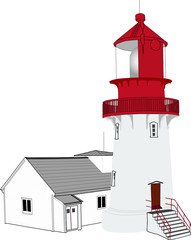 the illustration of lighthouse