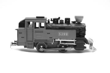 The locomotive of model of the railway