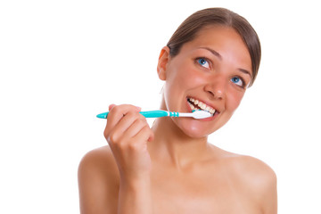 Photo of the beatifull woman with toothbrush