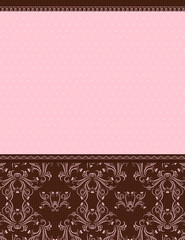 pink background with decorative ornaments