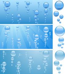 Bubbles in water.