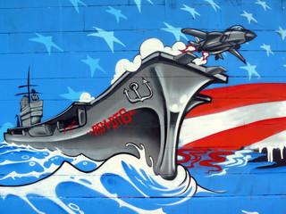 Graffiti Flugzeugträger