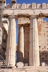 details of Parthenon, Acropolis in Athens – Greece
