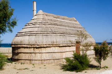 Maison traditionnelle de pêcheur en méditerranée