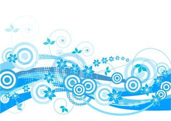 Foto op Aluminium Hemel Blue floral background