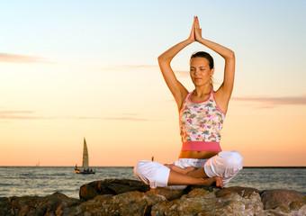 Meditation on rocks.