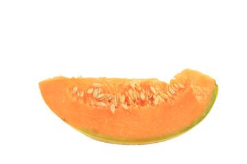 Melon slice isolated on white