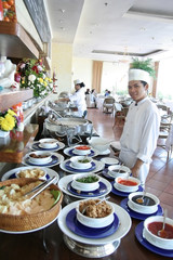 chef at buffet