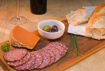 Busseto Salami And Cheese Platter