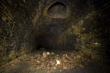 Dark Tunnel ventilation shaft