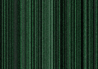 Illustrated matrix concept background image in black and green