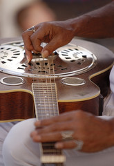 playing the guitar - close up