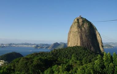 Pain de Sucre dans la baie de Rio. Brésil.