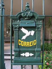 Correio. Boîte aux lettres brésilienne, Rio de Janeiro.
