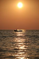 Fishermen and Sunset