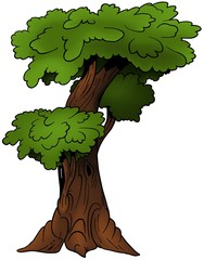 Tree 09 - cartoon illustration