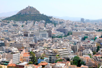 the view of Athens, Greece