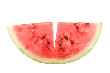 watermelon pieces isolated on white background