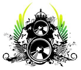 Rasta music logo