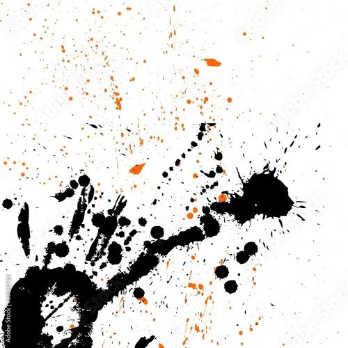 Taches noir orange photo libre de droits sur la banque d - Tache de javel sur tissu noir ...